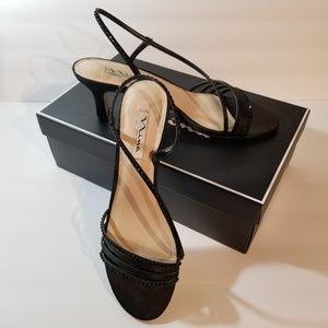 Nina Gerri LS Evening Sandals Black Size 9 1/2 M